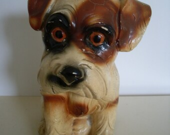 Vintage Chalkware Dog