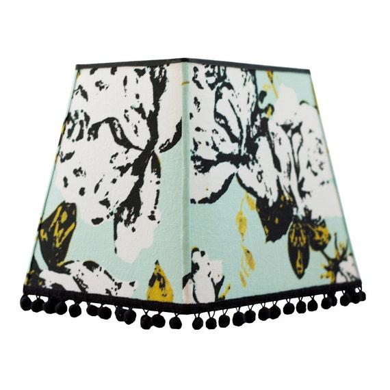modern lamp shades large rectangular lamp shade by elledaniel. Black Bedroom Furniture Sets. Home Design Ideas