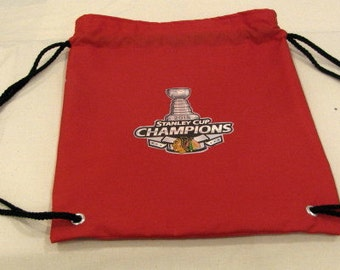 Chicago Blackhawks Stanley Cup Birthday Party Favor Bag-Backpack