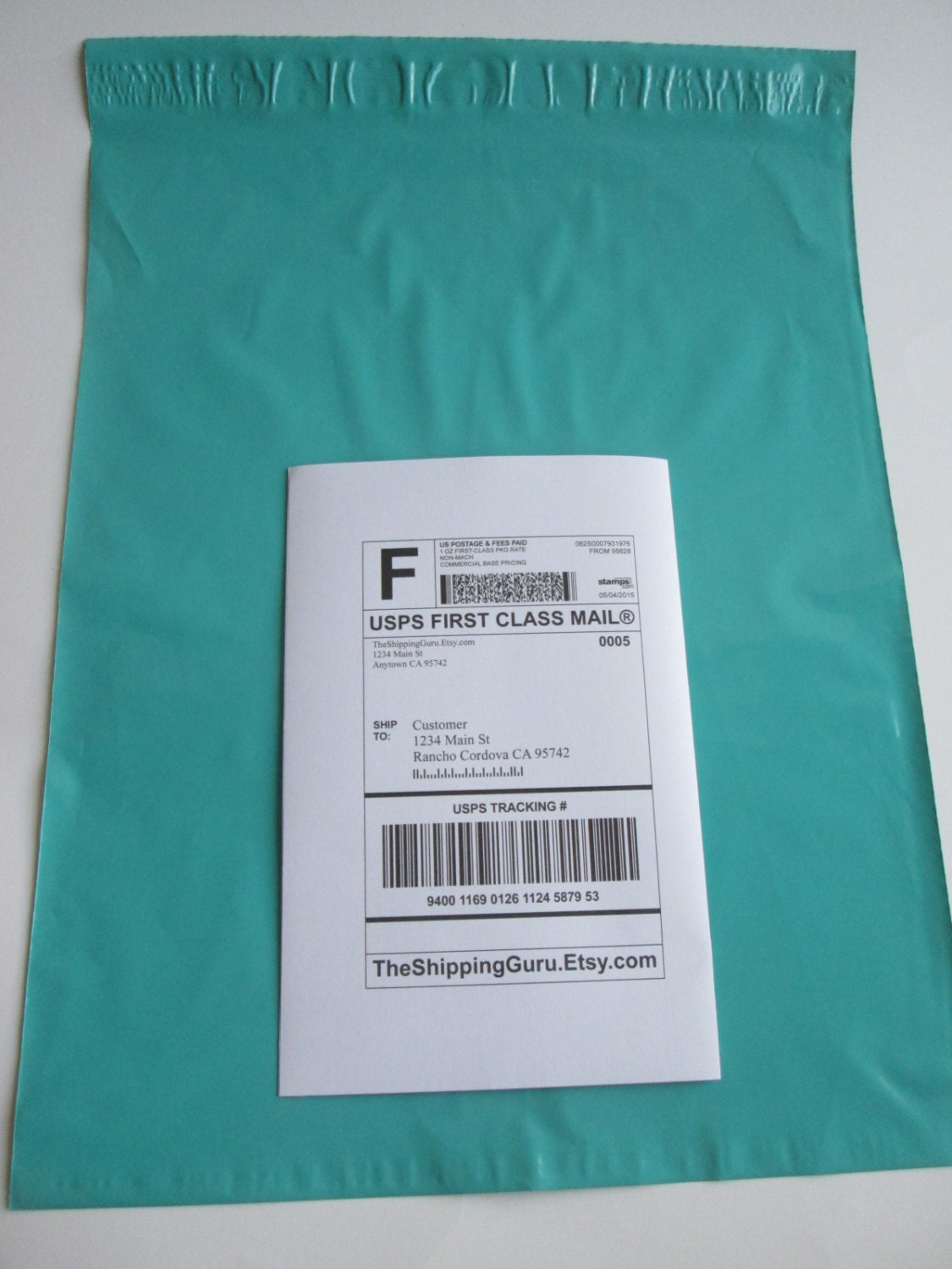 100 12x15 Teal Green Poly Mailer Envelopes In