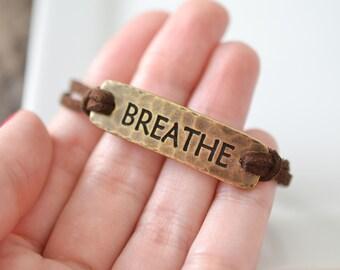 Breathe Bracelet, Yoga Bracelet, Meditation Jewelry, Anxiety Bracelet, Zen Bracelet, Anxiety Jewelry, Inspirational Bracelet, Gypsy Jewelry