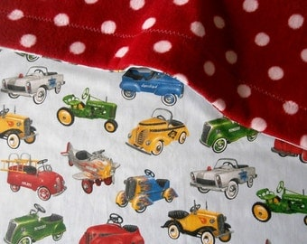 Classic Car Taxi Bus Baby Toddler Blanket for stroller or sofa