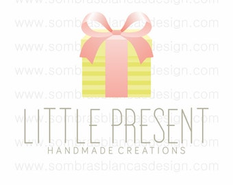 OOAK Premade Logo Design - Little Present - Perfect for a scrapbooking paper boutique or a gift shop
