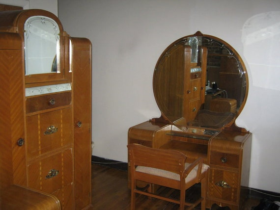 Items Similar To SALE! Vintage 1930s Bedroom Furniture Set