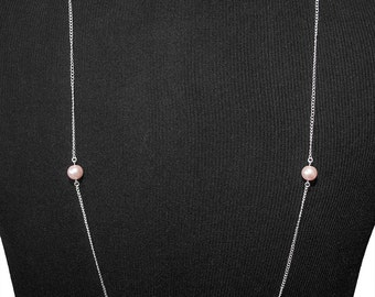 Chainy Rose Necklace | silverplated