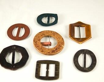 Set of 7 Vintage Belt Buckles
