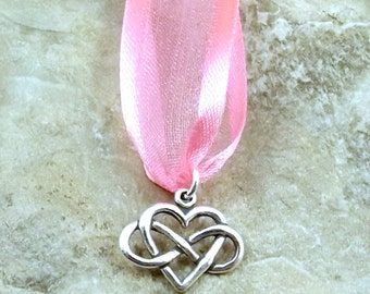Sterling Silver Wedding Cake Pull - Infinity Heart Charm - Your love knows no end -1419