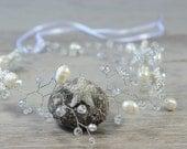 Silver Star Wedding Bridal Halo, Wedding  Hair Piece , crystal Hair Vine, bridal Hairpiece ,Boho Headpiece, Bridal Forehead Band, Crown