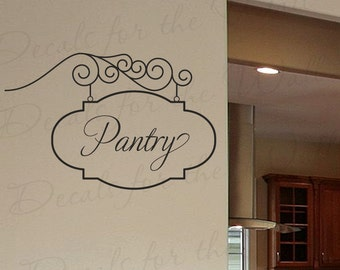 Pantry Sign Wall Decal Large Vinyl Sticker Kitchen Art Graphic Decor Mural Decoration G33