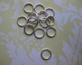 Sterling Jump ring supplies 7 MM 18 Ga Closed jump rings  count 20