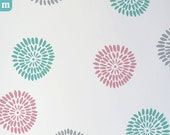 Stencil for Home Decor. Flower Burgeon. Size: S, M, L. DIY. Walls, fabric, furniture. Reusable