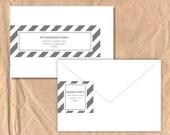 Printable Wrap Around Address Labels: Stripe