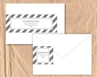 Printable Wrap Around Address Labels: Stripe