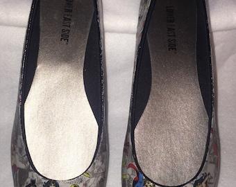 Custom female hero fabric Decoupage Shoes (Flats)