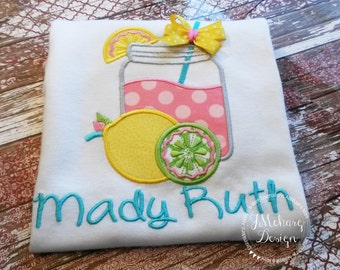 Summer Lemonade Shirt - Pink Lemonade Shirt - Custom Tee Personalized Birthday Tee