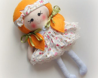 Florie - Top Knot Fabric Doll Collection :)