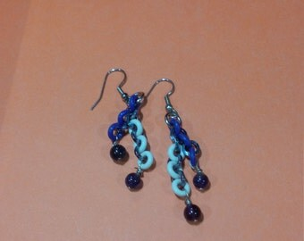 Amethyst Chainmaille earrings
