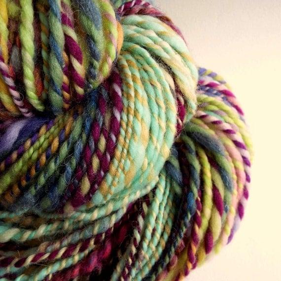 Knitting Handspun Wool : Handspun art yarn knitting wool for by