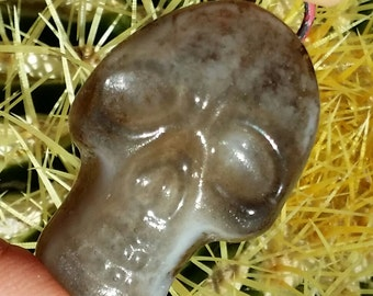 "Pendant 1"" up Fused Glass Skull Pendant Choice of Three Sizes"