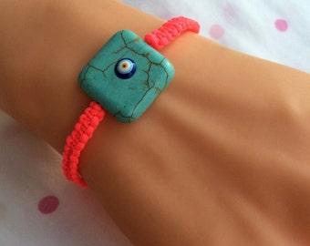 Natural Turquoise Bracelet,Bracelets,Blue,Handmade Jewelry,Fashion Jewelry,Modern,Stylish,Blue ,Natural Stone