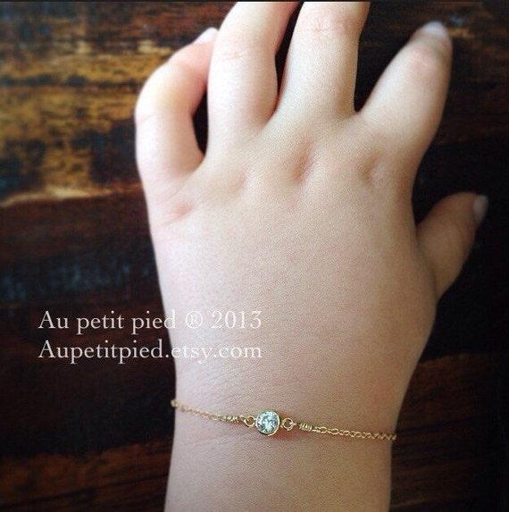 Baby Boy Gift Gold : Gold baby bracelet birthstone boy by aupetitpied