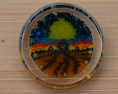 Tree of Life v2 Polished Murrine Slice - 2.1g