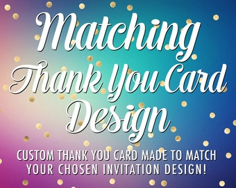 Matching Thank You Card - Printable