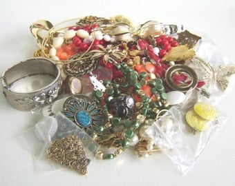 Vintage Jewelry Destash 2 Pound Lot Wear Repair Upcycle Jewelry Making