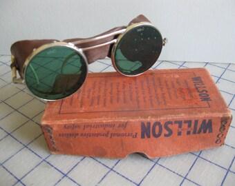 Vintage Willson safety glasses w/ original box