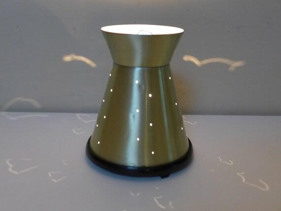 Vintage Lava Lite Lamp Base 1960s 70s Pierced Starlite Gold