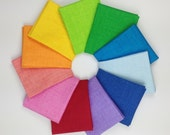 Sketch Rainbow Fat Quarter Bundle - Timeless Treasures Blender - 11 Fat Quarters - 2.75 Yards Total