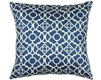 "Pillow Covers,  Blue Pillows  "" Lovely Lattice by Waverly ""  Accent Pillows   Throw Pillows   Decorative Pillows"