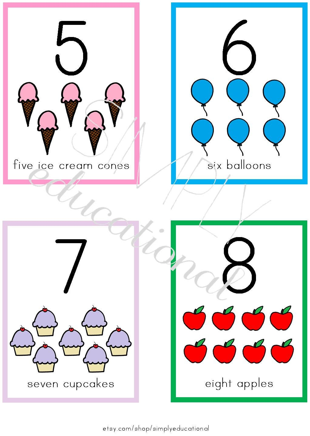 It is a picture of Nerdy Printable Number Cards 1 10