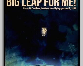 Apollo 11 NASA Transcript Moon Landing Poster by ...