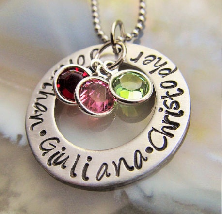 personalized mothers necklace mothers day jewelry mothers. Black Bedroom Furniture Sets. Home Design Ideas