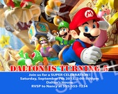 Super Mario Invitation - Printable Super Mario Birthday Invitation