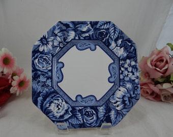 Vintage Foulard Porta Portugal Blue Floral Salad Plate