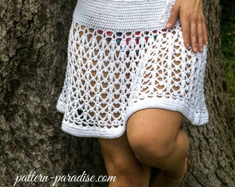 Crochet Pattern for Poncho Wrap & Beach Skirt, convertible, PDF 15-194 INSTANT DOWNLOAD