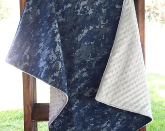 U.S. Navy NWU Military baby blanket