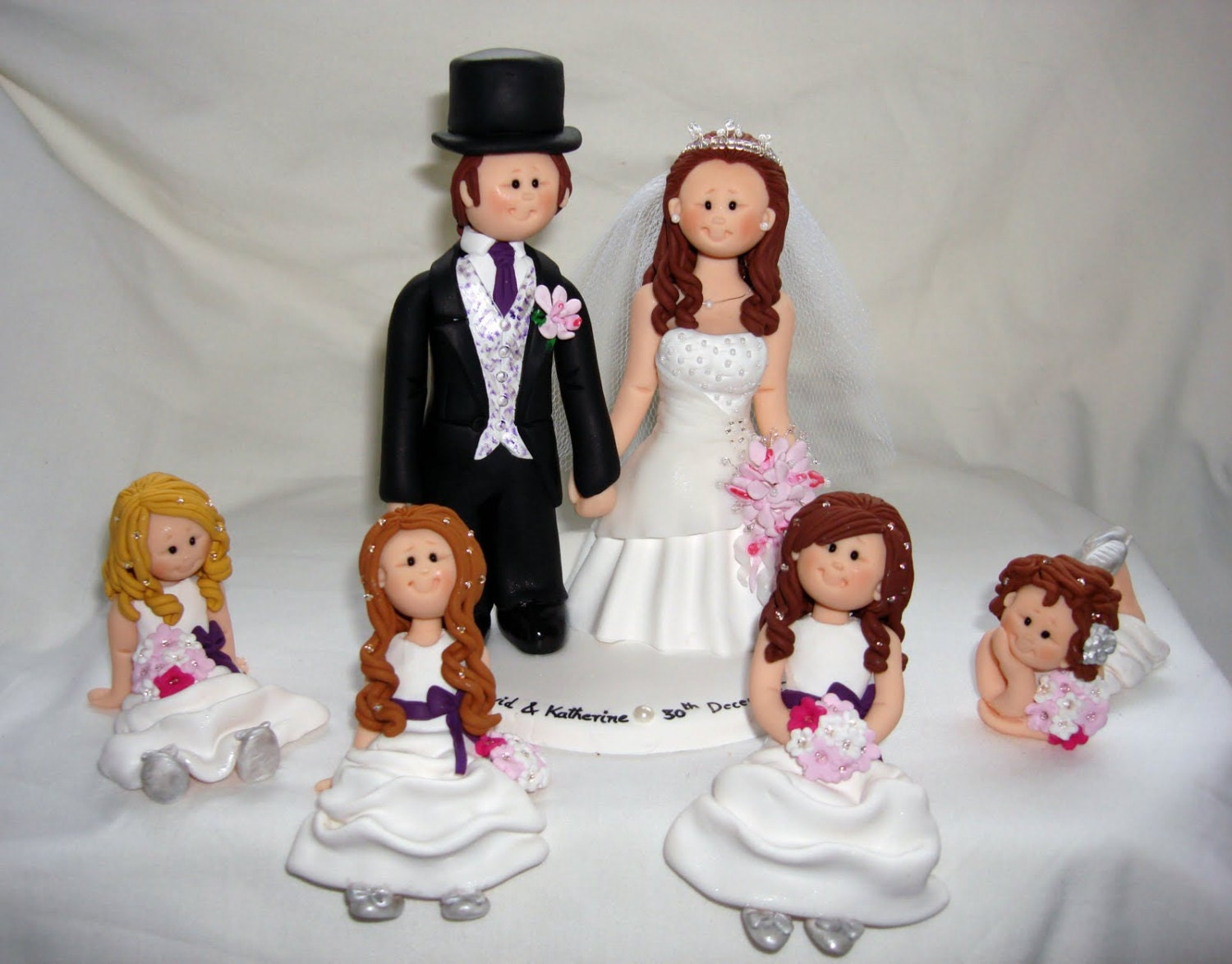 wedding cake toppers with children and groom with wedding cake topper custom made 26629