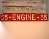 Wooden Firefighter Engine Sign