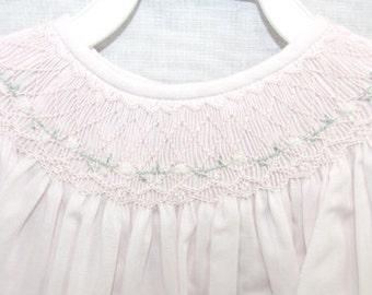 Smocked Dress | Baby Girl Clothes | Pink Smocked Dress | Smocked Baby Dress | Smocked Dresses Baby Girl | Smocked Bishop Dress 412348-J087