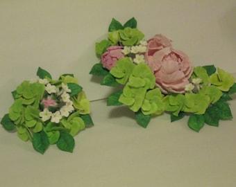 peony hydrangea cake topper sugar edible wedding bridal flowers