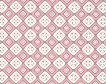 Fontaine Geo in Pink bu Vetmarie for P&B Textiles 746P 1 yard
