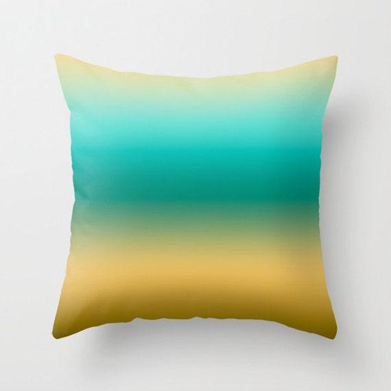 Modern Beach Pillow : Colorful Beach Throw Pillows Modern Minimalist Sunset Decor