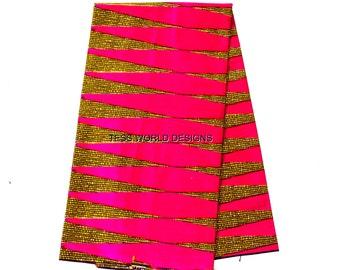 Fuchsia Ankara Fabric by the yard/ for Ankara clothing/ African Maxi skirt/ Ankara clothing/ Ankara top/ African fabric store/Pencil/ WP653B