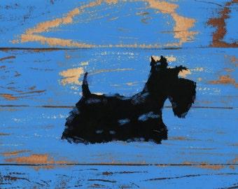 Scottie Dog Lustre Art Print Scottish Terrier