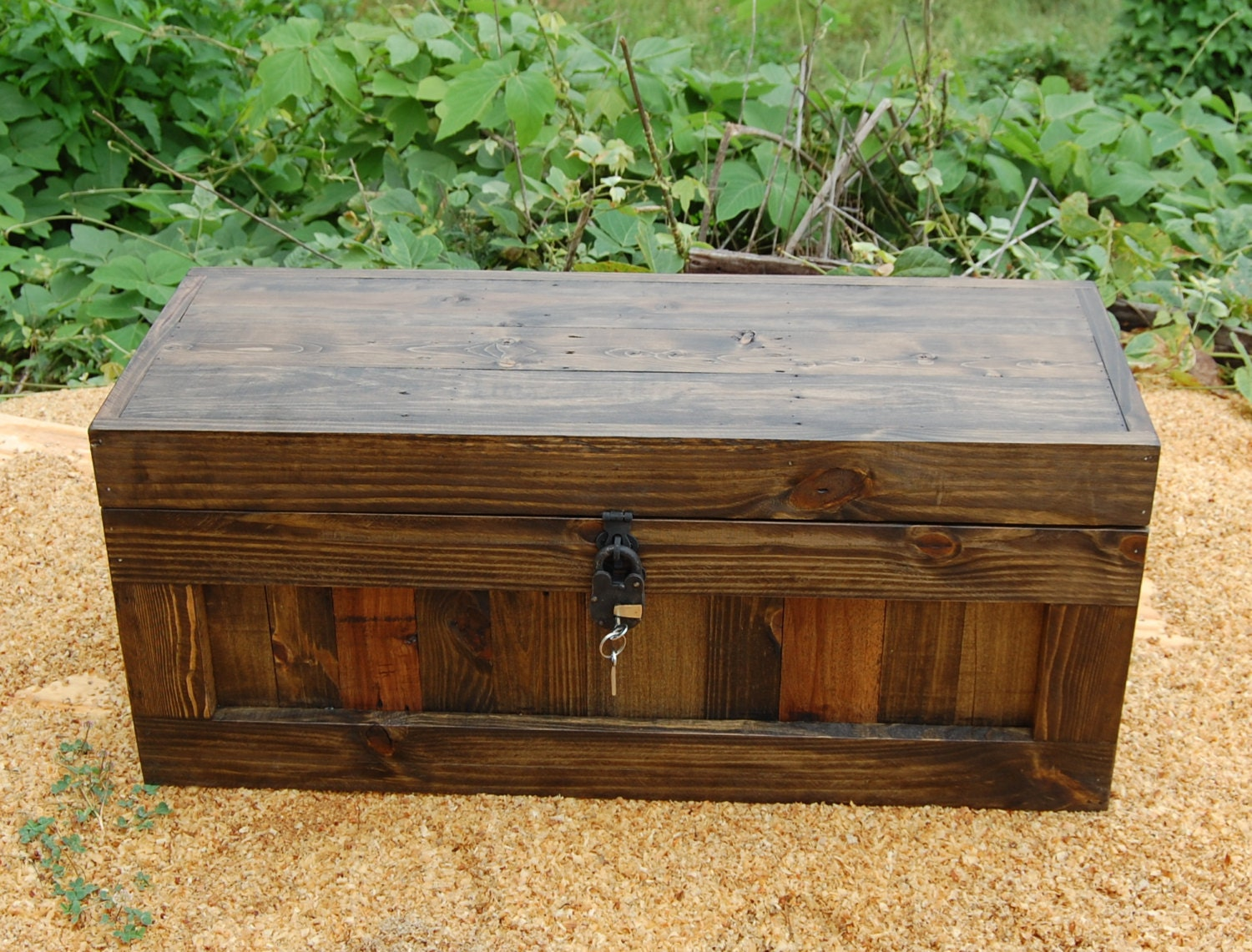 Jacobean Chest with Lock Hope Chest Wooden Trunk Coffee Table