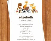 Woodlands Animals Invitation | Baby Shower | Printable Editable Digital PDF File | Instant Download | BSI316DIY