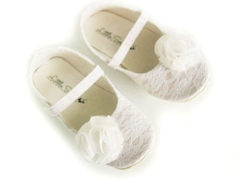 Toddler Shoes Flower Girl Shoes Ivory Baby Shoes Infant Shoes